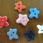 Keramik knapper – stjerner